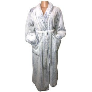 Soma Reversible Light Blue Navy Plush Robe Tie